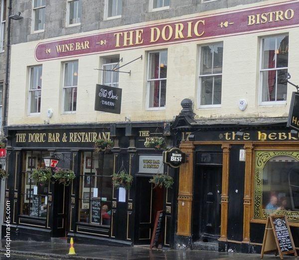Scottish Pub Bar: The Doric Tavern Bar Restaurant Bistro Edinburgh Scotland